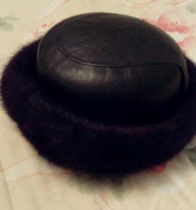 Зимняя норковая шляпа.