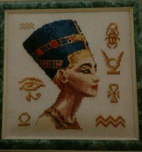 """Картина крестиком """"Египетская Царица"""""""