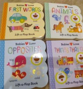 Книги для малышей на английском с открывашками