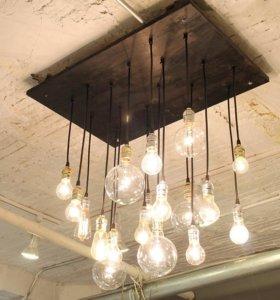 Лофт светильники люстры.