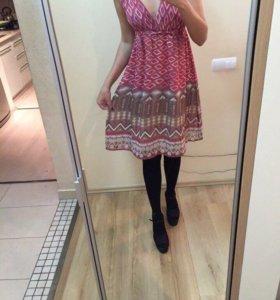 Расписное шифоновое платье Next оригинал на 44/46