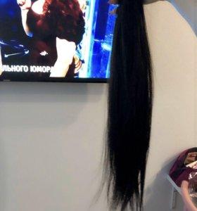 Чёрные славянка волосы для наращивания славянские