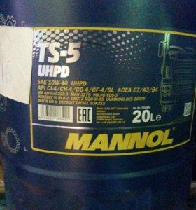 Маторное масло mannol 10w40 дизельное