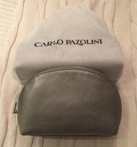 Новая кожаная косметичка сумка Carlo Pazolini