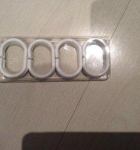 крючки для шторок в ванной 8 штук