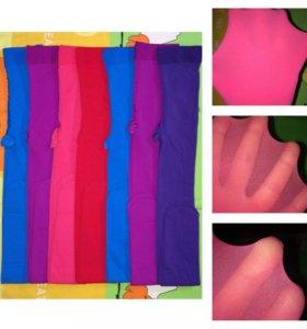 Колготки цветные плотные l, xl