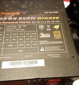 Блок питания Thermaltake Tr2 rx, at 650w