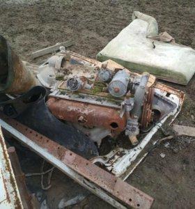 Двигатель 402 с коробкой, коробка 4 ступка