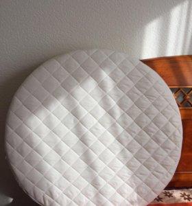 Матрас для круглой кроватки 3в1