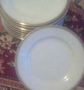 Тарелки мелкие 10 шт.б\у.