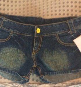 Шорты джинсовые новые, размер 42/44