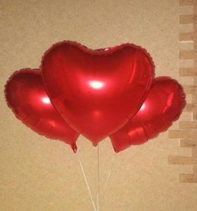 Шарики гелиевые Сердечки
