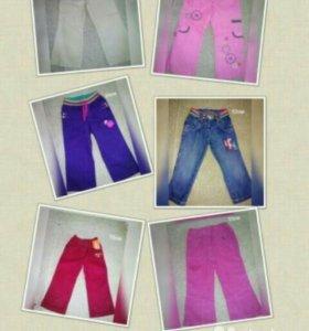 Брюки,джинсы новые от 98см до 115см
