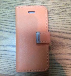 Чехол-книжка на iPhone 5-5S кожаный