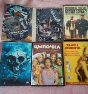Диски ДВД с фильмами 40шт
