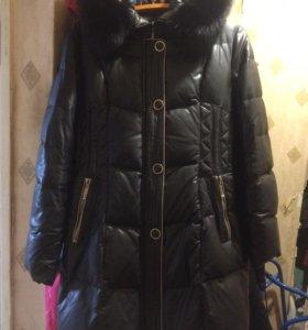 Куртка пальто экокожа