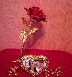 Розы с фоторамкой