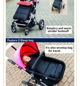 Продам конверт для коляски можно и в санки (новый)