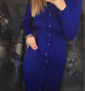 Стильное платье-карандаш, цвета аквамарин!