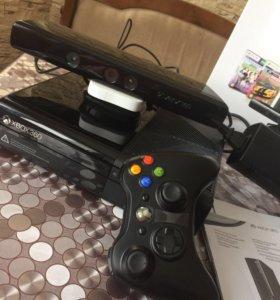 Игровая приставка Xbox360+Kinect+диски