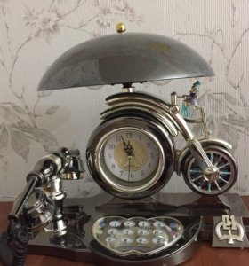 Часы музыкальные с телефоном и светильником