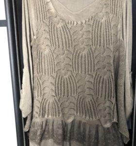 Платье с жилетом