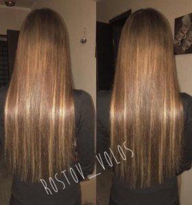 Наращивание волос, коррекция и снятие