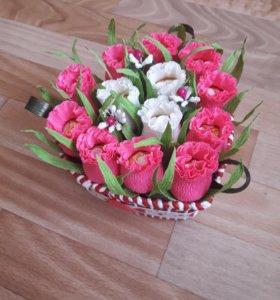 Сладкие букеты на День Влюбленных