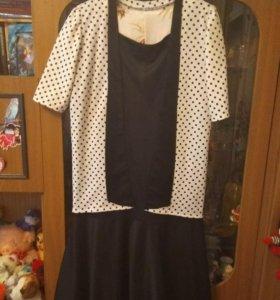 Платье в горошек.