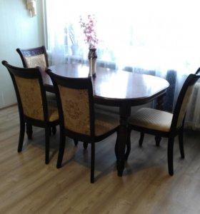 Обеденный стол с 4 стульями