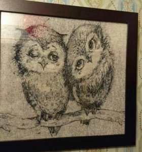 Картина из бисера Совы