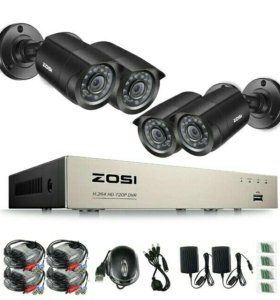 ZOSI готовый 8 канальный комплект видеонаблюдения