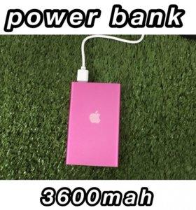 Power bank внешний аккумулятор 3600mah