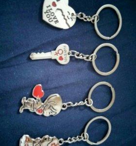 Новый брелки Любовь Валентинка Сердце