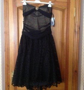 Платье нарядное ,чёрное, размер 48-50