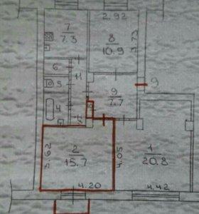 Комната, 15.7 м²