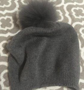 Новая шапка с натуральным мехом