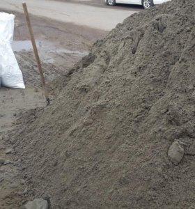 Для штукатурки песок сеянный по 43 кг. доставка.