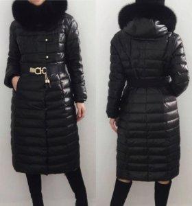 Длинное пуховое пальто Clasna