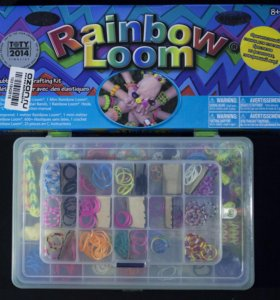 Rainbow loom. Набор резинок