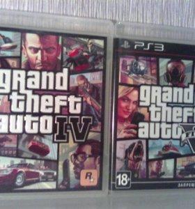 GTA4 и GTA5 для PS3