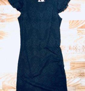 Платье 👗 чёрное кружевное