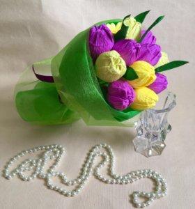 Букеты из конфет цветы подарок