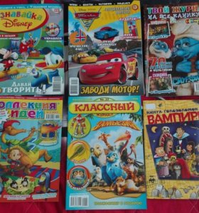 Детские журналы разные, книга головоломок