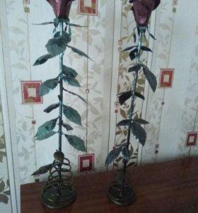Металлические розы