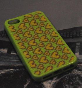 "Чехол ""Сердечки"" на iPhone 5\5s\se"