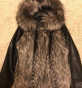Куртка -жилет скандинавская чернобурка (новая)