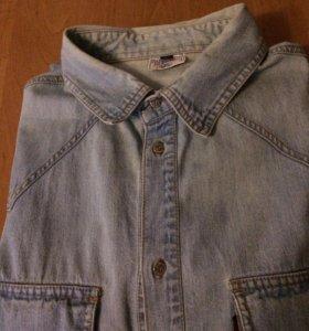 Рубашка джинсовая, муж. 54 размер