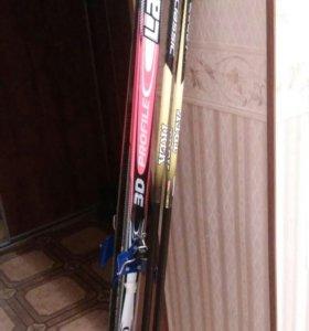 Лыжи беговые с палками