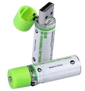 USB батарейки АА